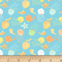 P&B Textiles Ocean Buddies Small Toss Blue