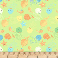 P&B Textiles Ocean Buddies Small Toss Green