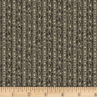 Washington Street Studio Classic Black & Tan Textured Stripe Black