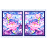 "P&B Textiles Water Lilies Water Lilies 21"" Panel  Blue Violet"