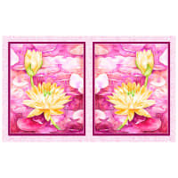 "P&B Textiles Water Lilies Water Lilies 21"" Panel Pink"