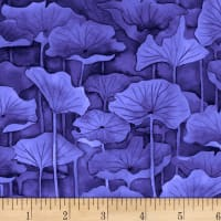 P&B Textiles Water Lilies Lily Pad Dark Blue (Violet)