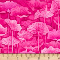 P&B Textiles Water Lilies Lily Pad Fuchsia