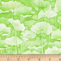 P&B Textiles Water Lilies Lily Pad Green