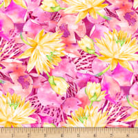 P&B Textiles Water Lilies Allover Pink