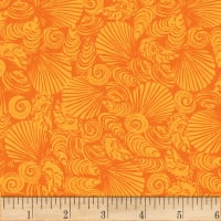 P&B Textiles Sea Shore Collection  Sea Shells Orange