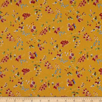 Washington Street Studio Dargate Jellies Floral Dark Yellow
