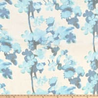 Silk Chiffon Floral Blue/Taupe