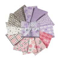 Kaufman Fat Quarter Bundles Cozy Cotton Pink/Purple 12 Pcs