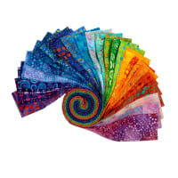 "Kaufman Artisan Batiks Round and Round Roll Ups 2.5"" Strips 40 Pcs Multi"