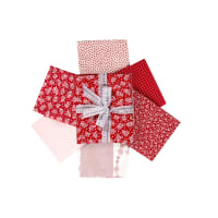 Kaufman Fat Quarter Bundles Southern Belles Redwork 6 Pcs