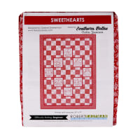 Kaufman Quilt Kit Sweethearts Redwork