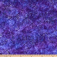 Kaufman Artisan Batiks Butterfly Blooms Small Flowers Purple