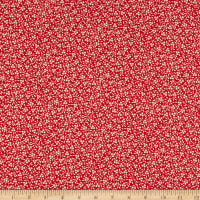 Kaufman Southern Belles Tiny Flowers  Red