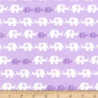 Kaufman Cozy Cotton Flannel Elephants Lavender