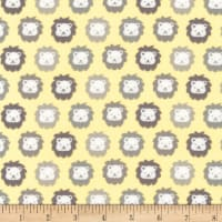 Kaufman Cozy Cotton Flannel Lions Yellow