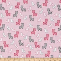 Kaufman Cozy Cotton Flannel Giraffes Pink