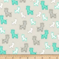 Kaufman Cozy Cotton Flannel Giraffes Silver