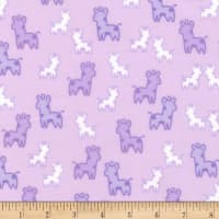 Kaufman Cozy Cotton Flannel Giraffes Lavender