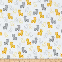 Kaufman Cozy Cotton Flannel Giraffes Yellow