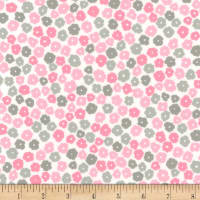 Kaufman Cozy Cotton Flannel Flowers Pink