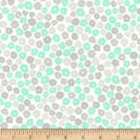 Kaufman Cozy Cotton Flannel Flowers Mint