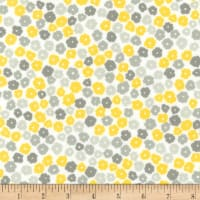 Kaufman Cozy Cotton Flannel Flowers Yellow