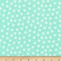 Kaufman Cozy Cotton Flannel Daisy Seafoam