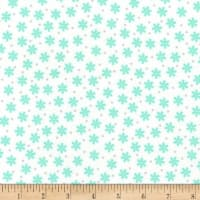 Kaufman Cozy Cotton Flannel Daisy Mint