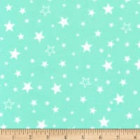 Kaufman Cozy Cotton Flannel Stars Seafoam