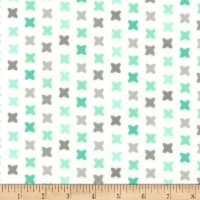 Kaufman Cozy Cotton Flannel Stitch Mint