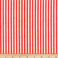 Kaufman Down On The Farm Stripes Red