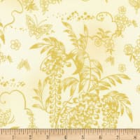 Kaufman Imperial Collection Metallic 15 Wisteria Ivory