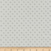 Kaufman Wayside Metallic Flower Dot Grey