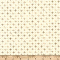 Kaufman Wayside Metallic Flower Dot Natural