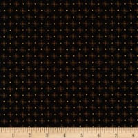 Kaufman Wayside Metallic Flower Dot Black