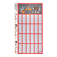"Northcott Winterland Advent Calendar 24"" Panel Dark Gray Multi"