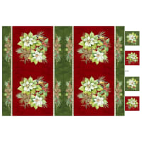 "Northcott Deck the Halls Placemat Panel 28"" Red Multi"