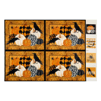 Northcott Raven's Claw Placemat Panel Orange Multi