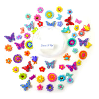 Dress it Up Embellishments Buttons Beautiful Butterflies