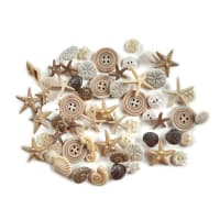 Dress it Up Embellishments Buttons Seashells