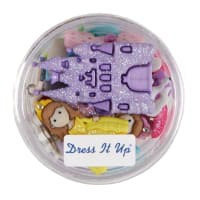 Dress it Up Embellishments Buttons Princesses
