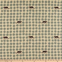 Kokka Echino Panther Dots Linen Canvas Grey
