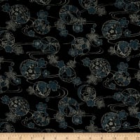 Kokka Japanese Traditional Family Crest Canvas Black