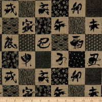 Kokka Japanese Traditional Zodiac Canvas Black
