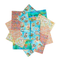 "Fabric Editions Wild And Whimsy 10"" Charms, 20 pcs."