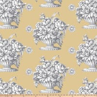 "Kaffe Fassett 108"" 300 Thread-Count Sateen Quilt Back, Stone Flower - Beige"