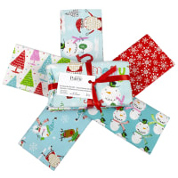 Fabric Editions Holiday Christmas Pals Fat Quarter Bundle 5 Pcs