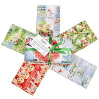 Fabric Editions Holiday Santa Helpers Fat Quarter Bundle 5 Pcs