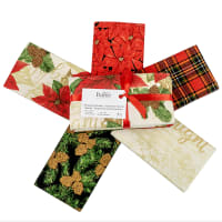 Fabric Editions Holiday Merry & Bright Fat Quarter Bundle 5 Pcs